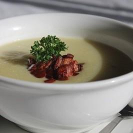 Hedvábná hříbková polévka